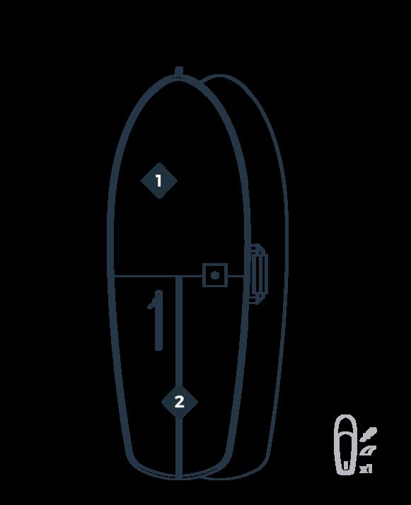 detalles FOIL 5'3 mochila Boardbag MANERA 2020-1