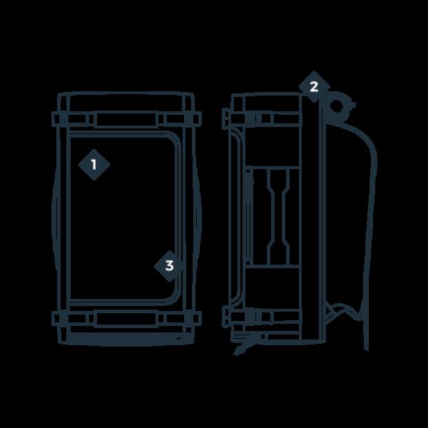 boarbag DUFFLE Bag 45l MANERA .2020